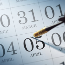 April 05 written on a calendar to remind you an important appoin