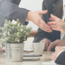 Handshake on a business meeting